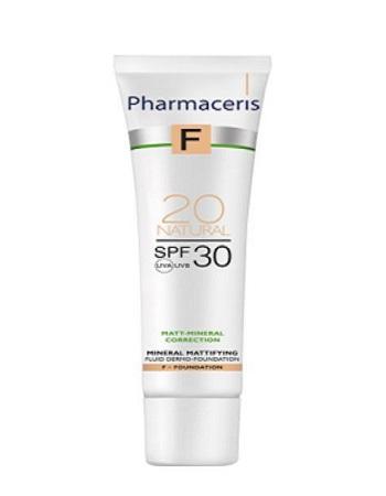 Pharmaceris F, mineralisch mattierendes Dermofluid SPF 30, 20 Natural, 30 ml