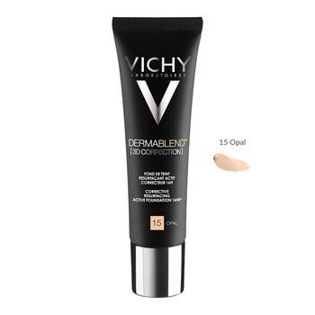 Vichy Dermablend 3D, Skin Leveling Foundation, 15 Opal, 30 ml