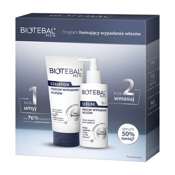 Aktionsset Biotebal Men gegen Haarausfall, Shampoo, 150 ml Serum, 100 ml
