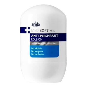 Anida Medi Soft Men, Antitranspirant Roll-on, für zarte und empfindliche Haut, 50 ml
