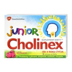 Cholinex Junior, Lutschtabletten, Himbeergeschmack, 16 Stk.