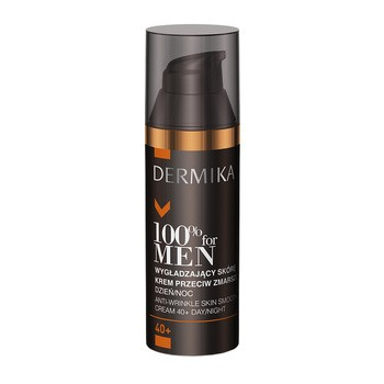 Dermika 100 For Men 40, glättet die Haut, Anti Falten Creme, 50ml