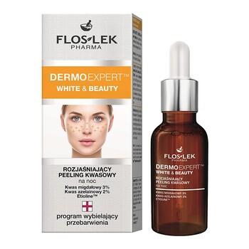 FlosLek Pharma Dermoexpert, White & Beauty, aufhellendes Säurepeeling, 30ml