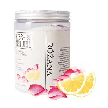 Fresh Natural, Rosenbadesalz mit Rose und Zitrone, 1000 g