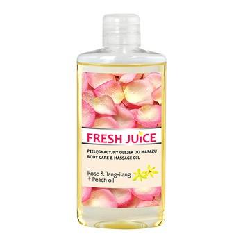 Frischer Saft, pflegendes Massageöl, Rose Ilang Ilang Pfirsichöl, 150 ml