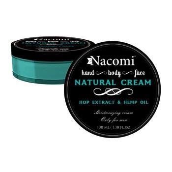 Nacomi, eine natürliche Creme für Männer, mit Hanföl und Hopfenextrakt, 100 ml