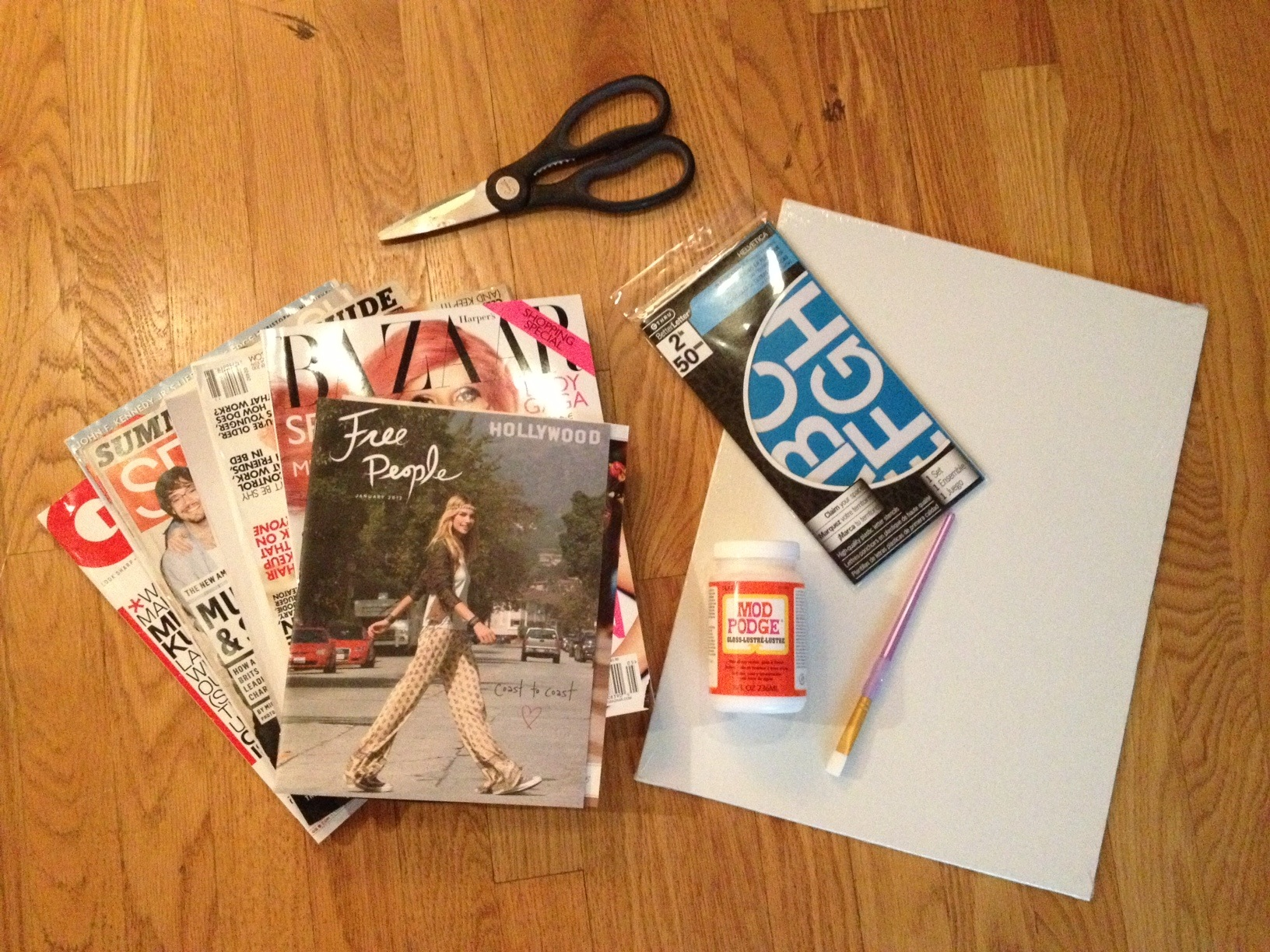 diy magazine cut out poster rose