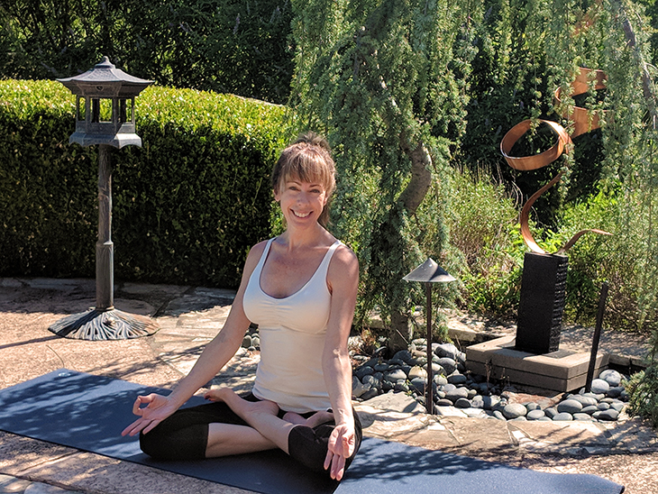 Lotus Pose helps me meditate on the beauty of life.