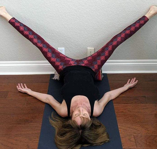 Restorative Yoga legs up the wall