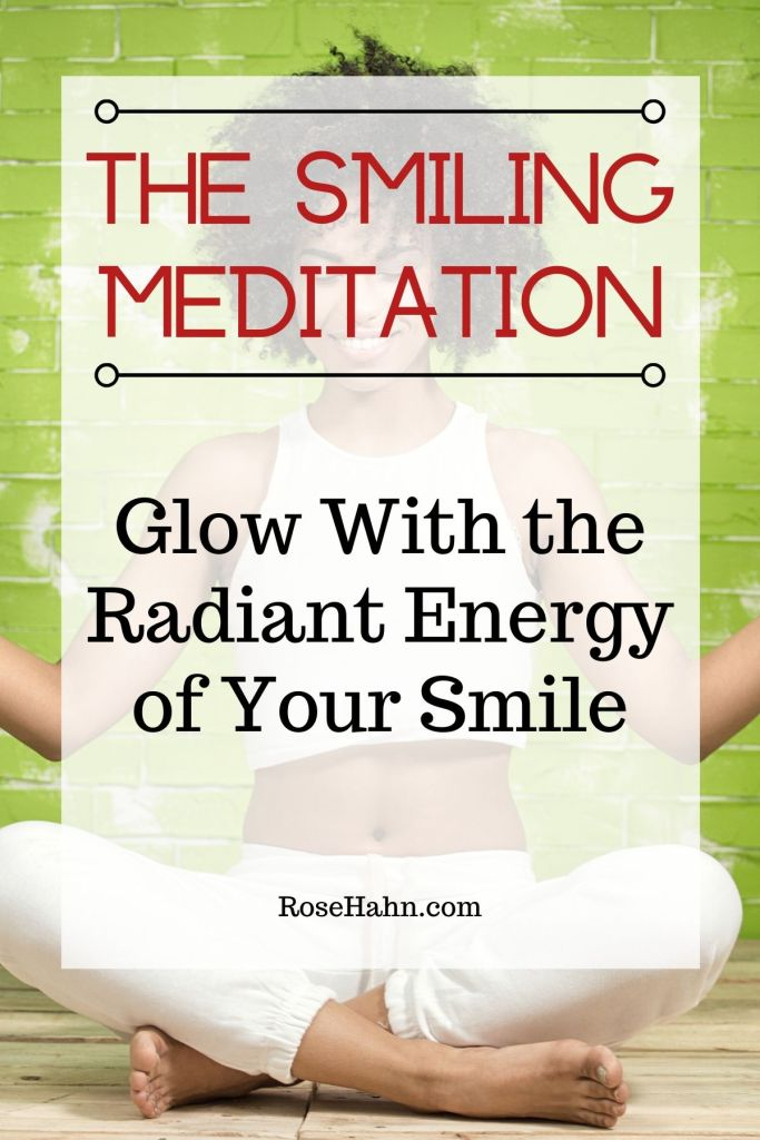 This guided smiling meditation can reduce stress, boost your mood, & leave you glowing with positive energy.