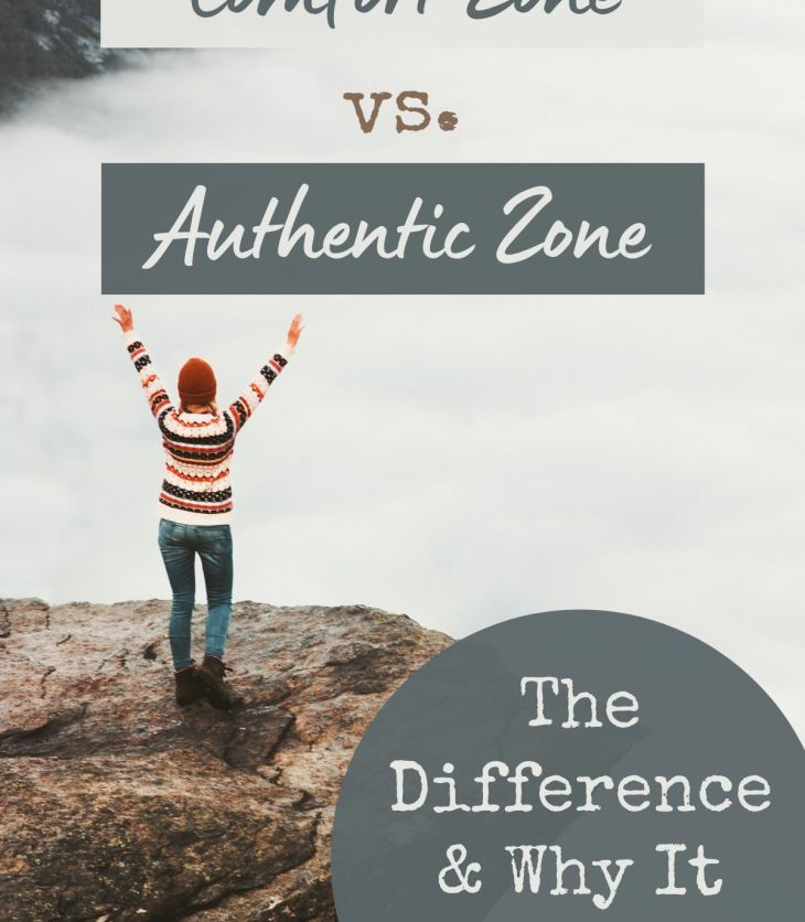 There's a difference between the comfort zone and your authentic zone, and it's important to know the difference. Learn to trust your self to make decisions about what's truly right for you.
