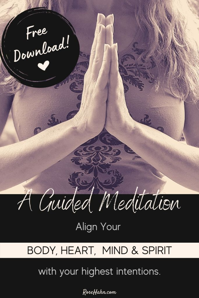 A Guided Meditation for your body, mind, and spirit to help you take charge of your health and happiness.