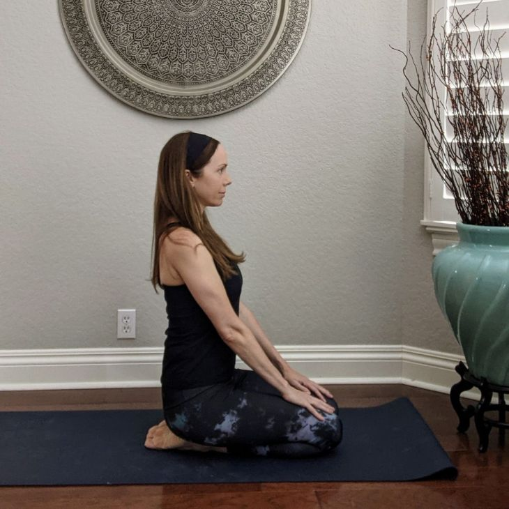 Thunderbolt Pose aids in digestion.