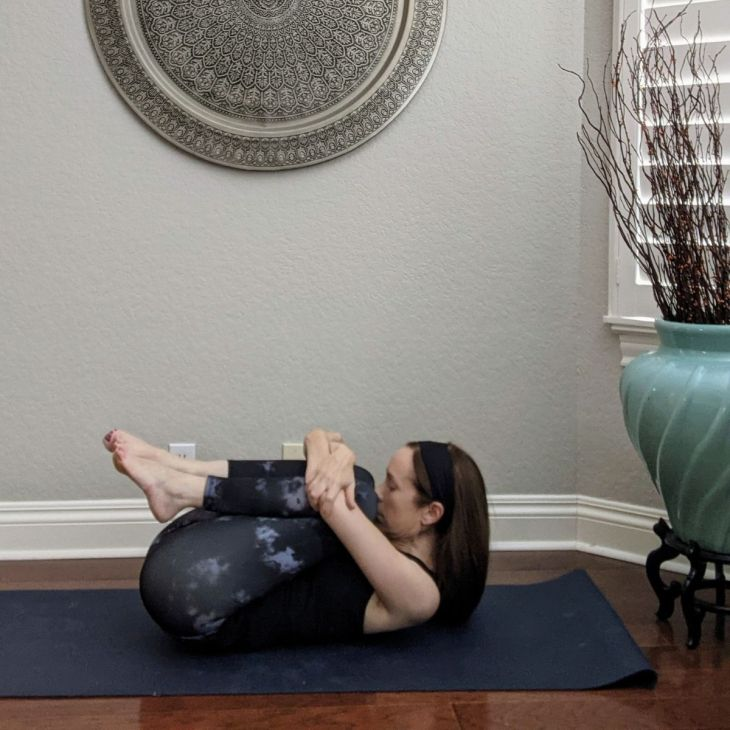 Wind Relieving Pose is a wonderfully effective yoga for gut health practice.