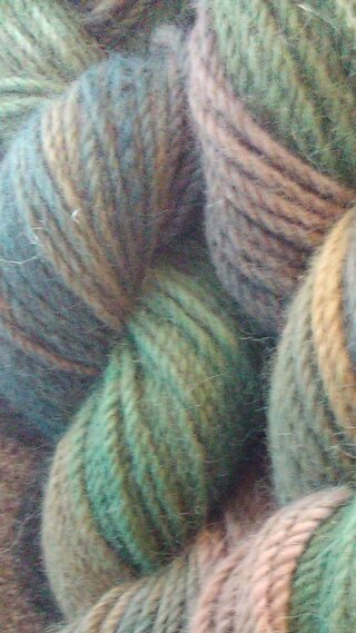 BlueFawnGreenYellow4skeins