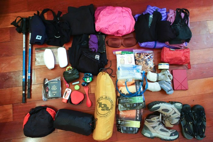 My hiking equipment