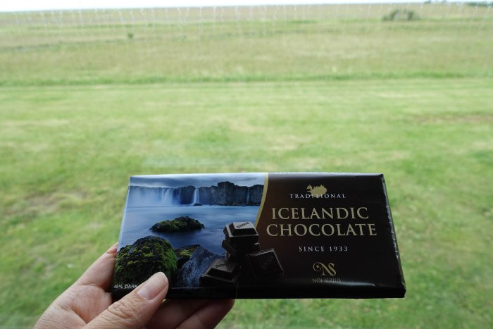Icelandic chocolate bar