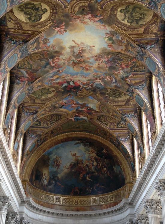 Painted ceilings in Versailles