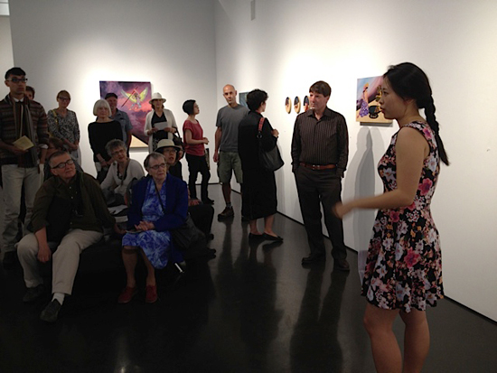 My artist talk at Initial Gallery