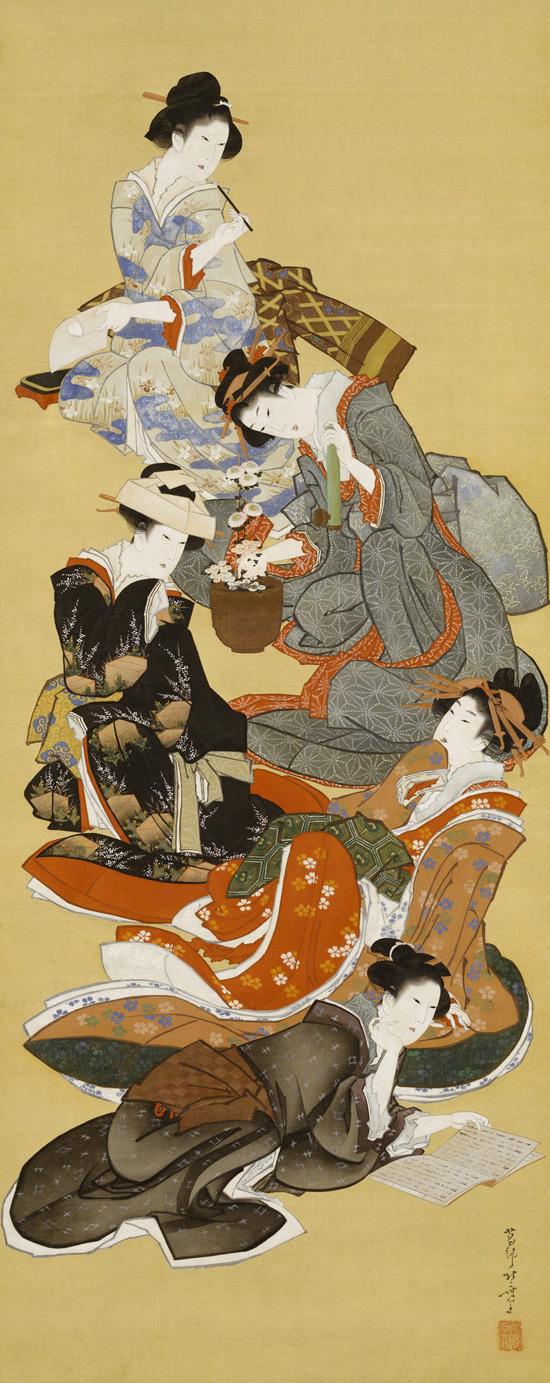 Katsushika Hokusai - Five Beautiful Women (1804-18)
