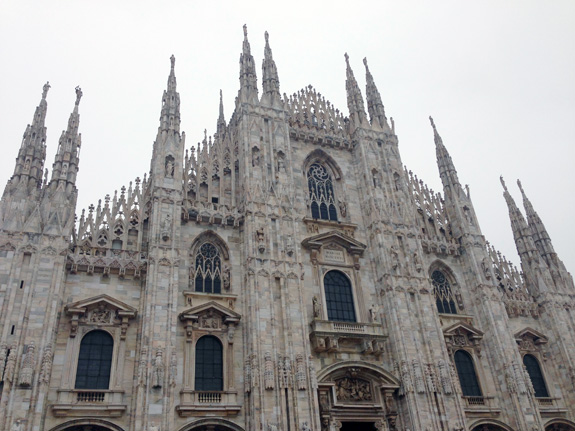 The impressive Duomo that we walked by every day