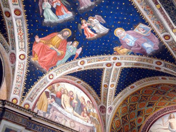 Painted ceilings at San Maurizio al Monastero Maggiore
