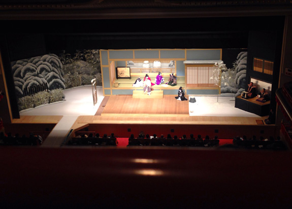 Watching some kabuki theatre - from the nosebleed section again.