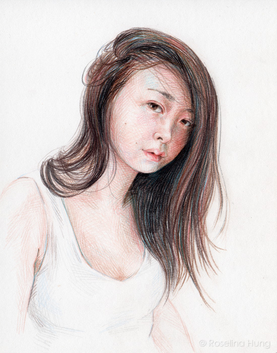 Roselina Hung - Hair Fall (sketch) - 2015