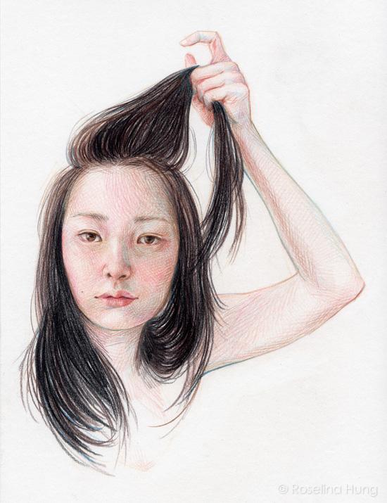 Roselina Hung - Hair Pull (sketch) - 2015
