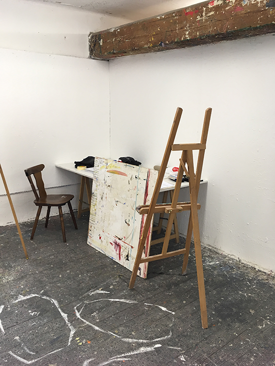 My studio corner where I worked for 3 weeks
