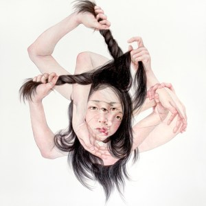The Hex, Coloured pencil on paper, 26.25 x 31 inches, 2015