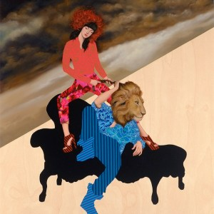 The Seduction of Samson, Oil on wood panel, 20 x 24 in, 2012