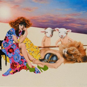 The Gravity of Venus, Oil on canvas on board, 24 x 18 in, 2010