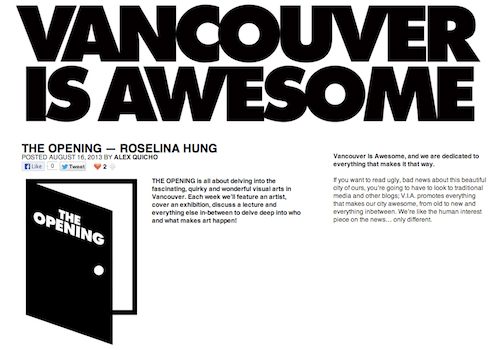 Vancouver Is Awesome - THE OPENING - Roselina Hung