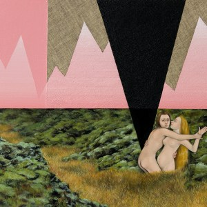 The Field of Ruins (Pink), Oil and linen on canvas, 12 x 16 in, 2016, Private Collection