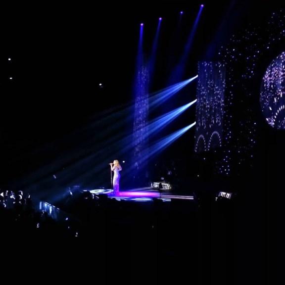 Mariah Carey in concert, Paris.