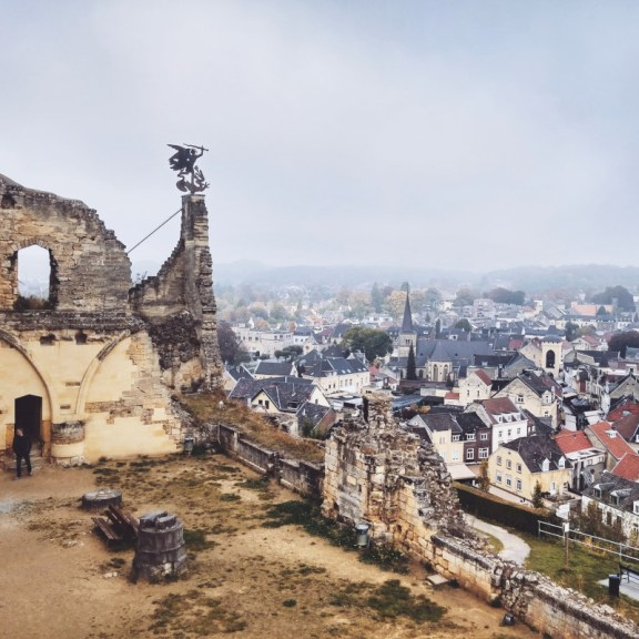 Old castle in Valkenburg, Limburg