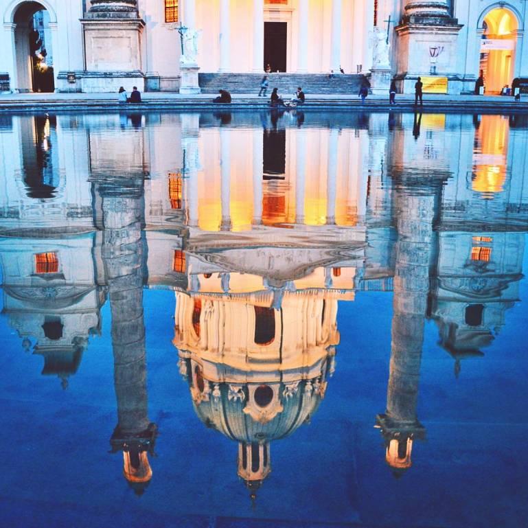 Reflection at Karlsplatz in Vienna