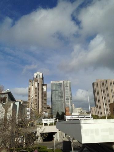 Cloudy sky at SFO