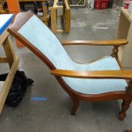 Upholstery Chair and Ottoman - After 2 - 2020