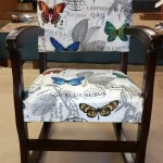 Upholstery Childs Rocking Chair - After - 2016