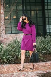 purple-dress-for-work