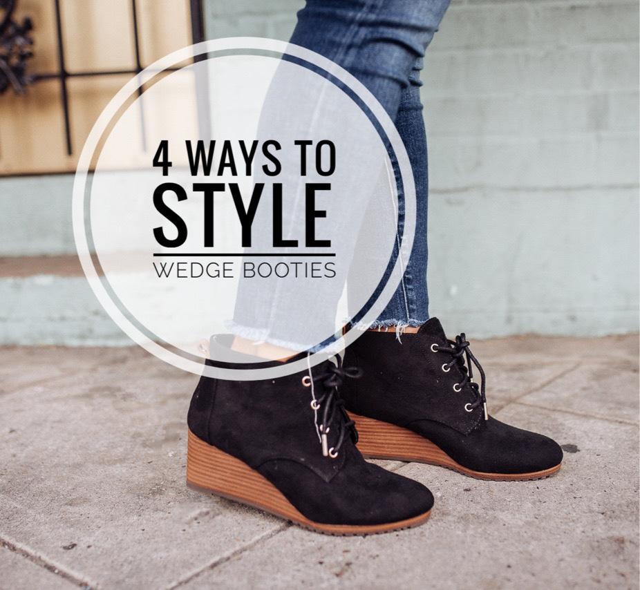 wedge-booties