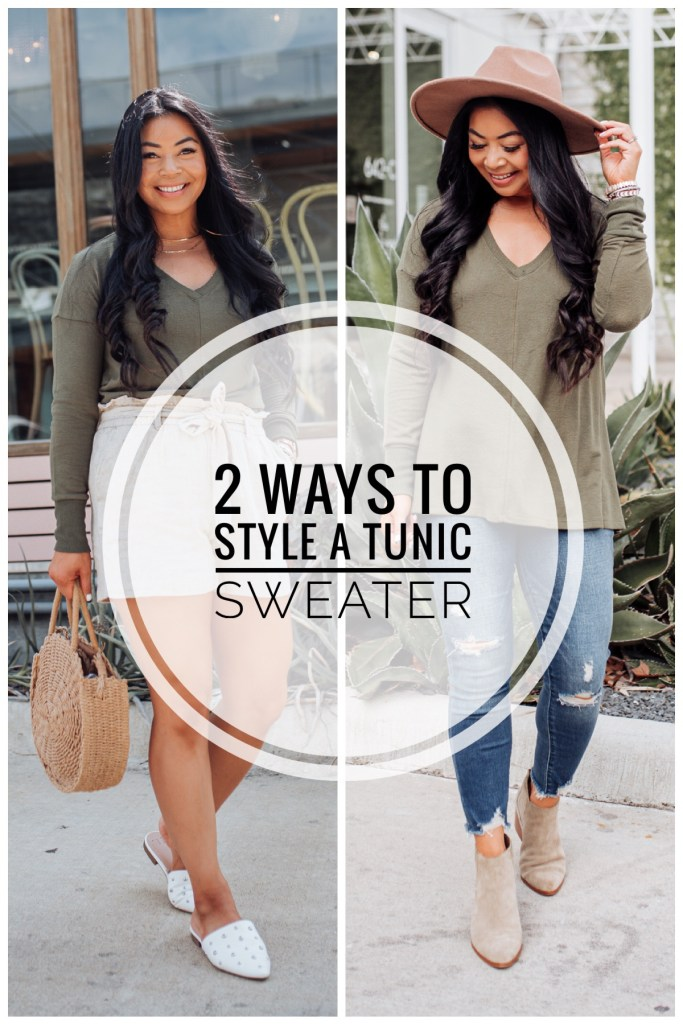 how to style a tunic sweater