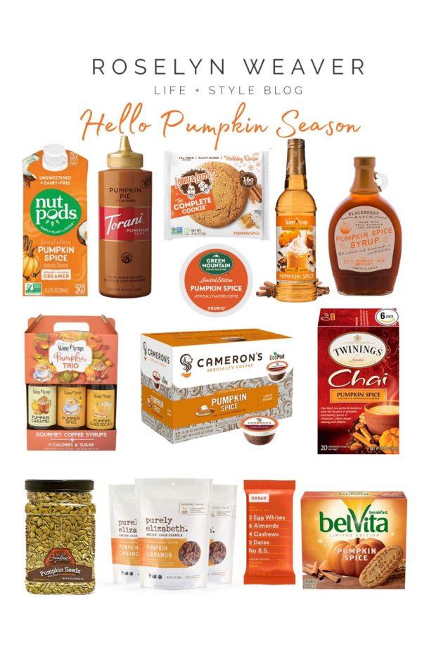 pumpkin flavored food