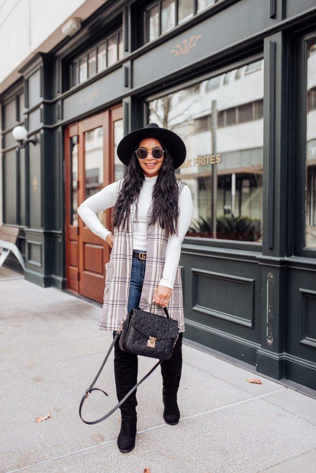 long vest outfit
