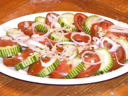Cucumber, Tomato & Shallot Salad (2)