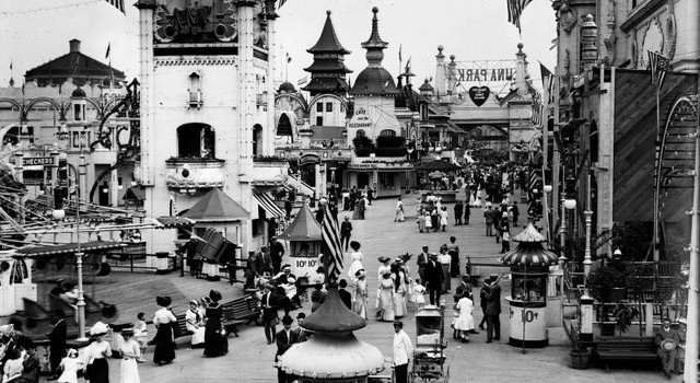 Coney Island, 1910s, as it looked in my great-grandparent's time.