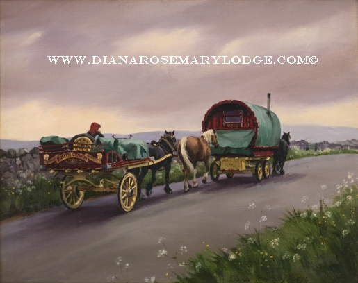 Gypsy caravan prints by diana Rosemary Lodge