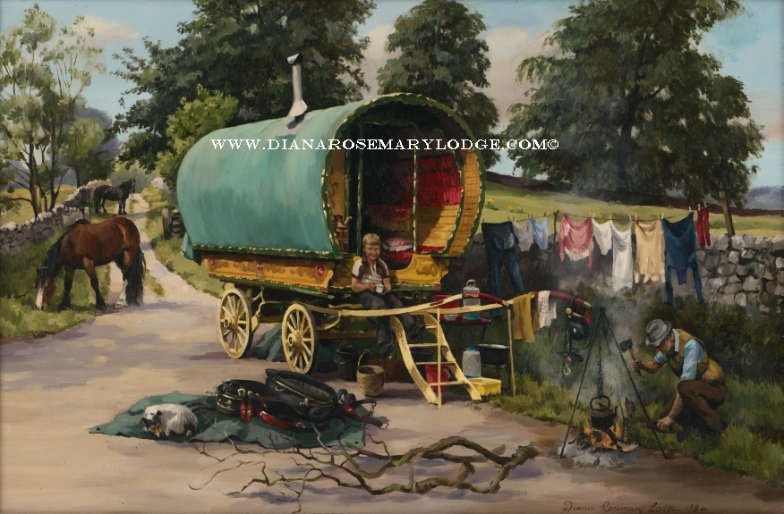 Gypsy camp scenes by Diana Rosemary Lodge